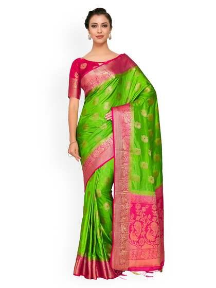 c87a1390b1c67c Green Saree - Buy Green Color Sarees Online