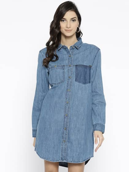 dcb7d1218604 Denim Dresses - Buy Denim Dresses Online in India