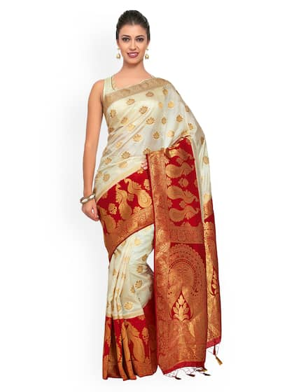 f1dbd21419 Off White Saree - Buy Off White Sarees Online in India