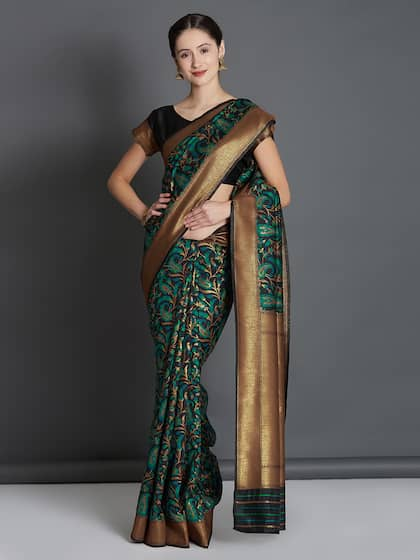 946703f479 Black Saree - Black Designer Sarees Online @ Best Price | Myntra