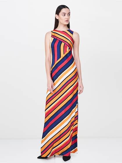 And Women Multicoloured Striped Maxi Dress