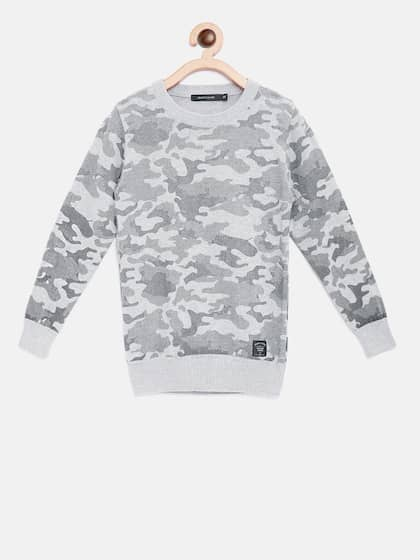 12f72429c18d Octave. Boys Camouflage Print Pullover