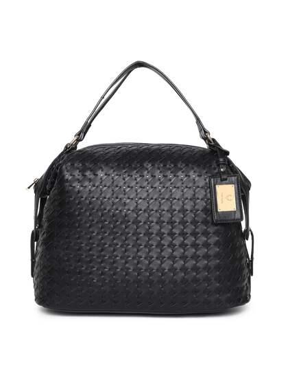 Allen Solly Black Self Design Handheld Bag