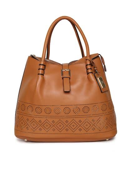 Allen Solly Tan Solid Shoulder Bag