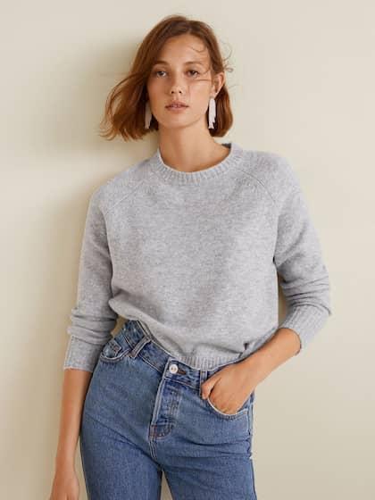 MANGO. Women Solid Pullover