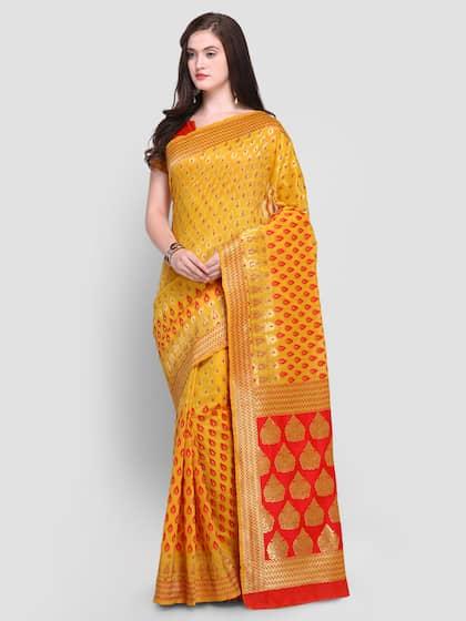 936095a94b8fda Pure Silk Saree - Buy Pure Silk Designer Sarees Online | Myntra