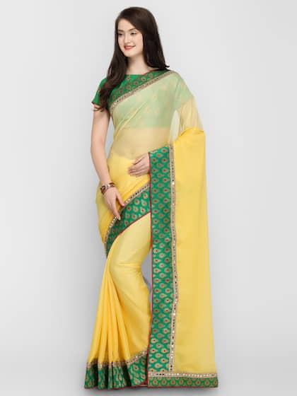 73e60460050e2d Mirror work Sarees - Designer Mirror work Saree - Myntra