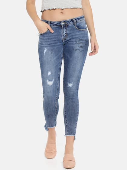 Ripped Jeans For Women Buy Women Ripped Jeans Online Myntra