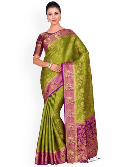 ef20db2086 Silk Sarees - Buy Pure Silk Saree Online in India @ best price| Myntra