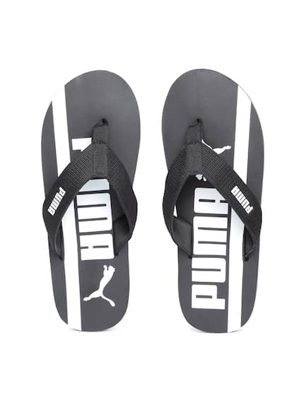 d0a8512a3d95a4 Puma Men Black   White Robby Graphic DP Printed Thong Flip-Flops