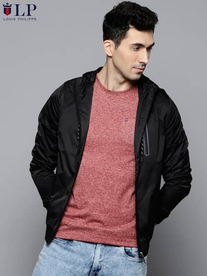Louis Philippe Jeans. Men Solid Bomber Jacket