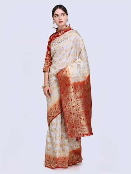 07ae4bdbb3 Cream Saree | Buy Cream Colour Sarees Online in India
