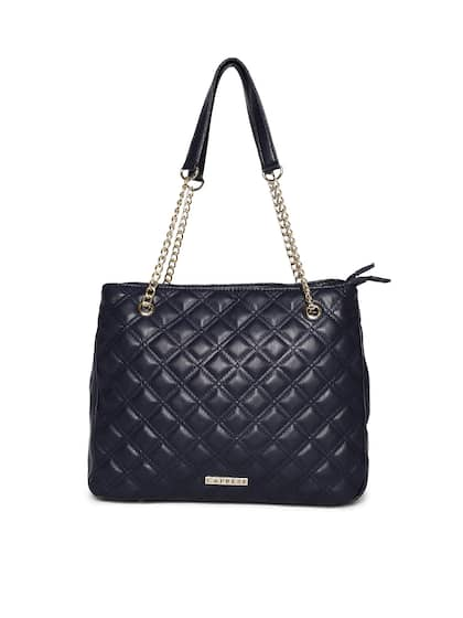 Caprese Navy Blue Solid Shoulder Bag