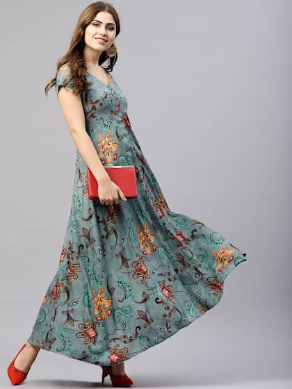 6fe30e48a51e Long Dresses - Buy Maxi Dresses for Women Online in India - Upto 70% OFF