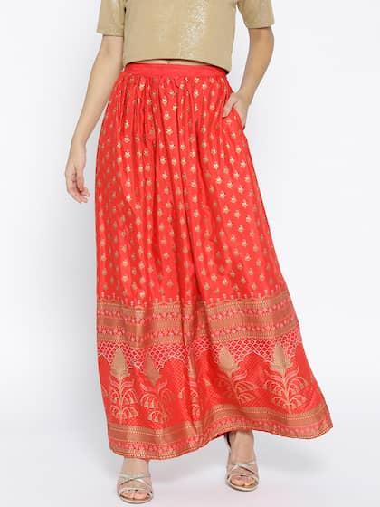 dd95b81004 Ethnic Long Skirts - Buy Ethnic Long Skirts Online | Myntra