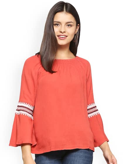 Women Red Shirts Tops - Buy Women Red Shirts Tops online in India ae94abce744