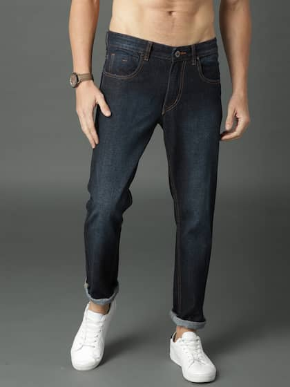 navy colored jeans