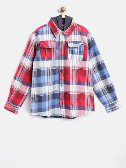 2126f44846 Hooded Checked Shirts - Buy Hooded Checked Shirts online in India