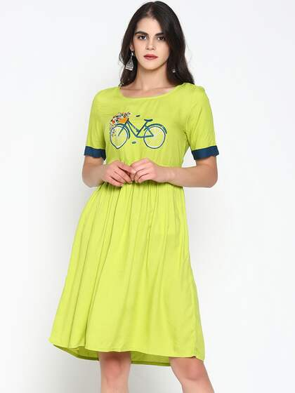 edf82d35e3 Lime Green Dresses - Buy Lime Green Dresses online in India