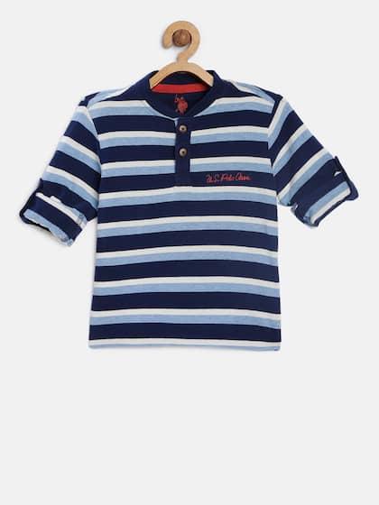 Pick SZ//Color. Childrens Apparel U.S Boys Short Sleeve Henley US Polo Assn