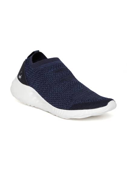 United Colors of Benetton Men Navy Blue Woven Design Slip-On Sneakers