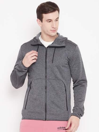 the latest 0ed24 77551 ADIDAS Men Charcoal Grey Climb the City Hooded Outdoor FL Sweatshirt