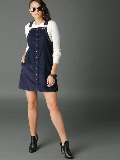 cf452685e4 Women Pinafore Dresses - Buy Women Pinafore Dresses online in India