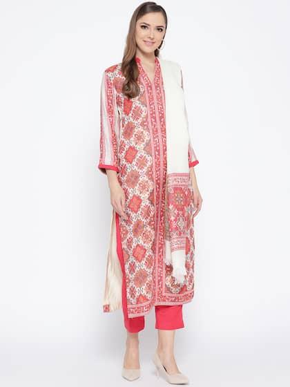 White Dress Material Buy White Dress Materials Online Myntra