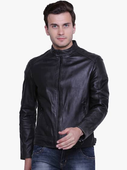 7efb89a8156 Men Leather Jackets - Buy Leather Jackets For Men Online