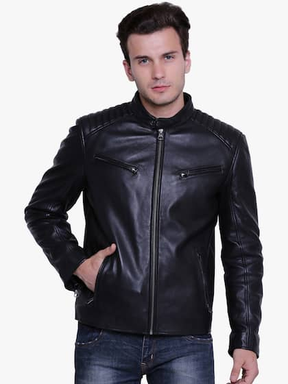 c48cb1284f Leather Jackets - Buy Leather Jacket Online in India