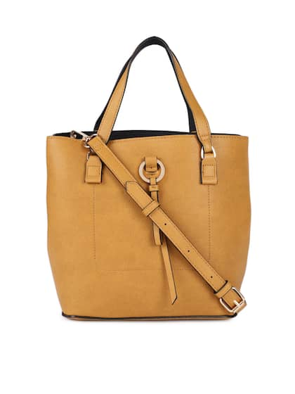 Accessorize Mustard Solid Handheld Bag