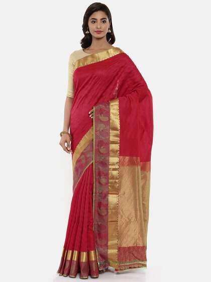 60bb1699e640f The Chennai Silks. Woven Design Kanjeevaram Saree