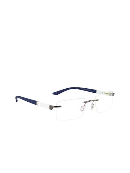 15dedfedc02 Ted Smith. Unisex Rimless Wayfarer Frames