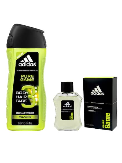 brand new 79f25 cd964 ADIDAS Men Set of 2 Pure Game Shower Gel and Pure Game Eau de Toilette