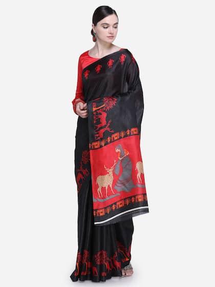 9f30433e9057e Black Saree - Black Designer Sarees Online @ Best Price | Myntra