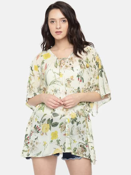 589479660f The Kaftan Company. Yellow Printed Cover-up Dress