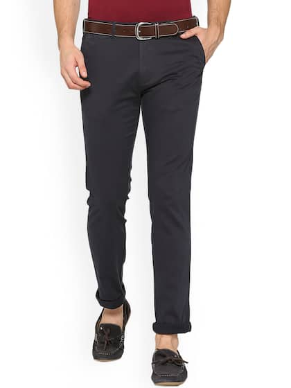 d480bb82f2087 Peter England Casuals Flat Front Trousers Bottomwear - Buy Peter ...
