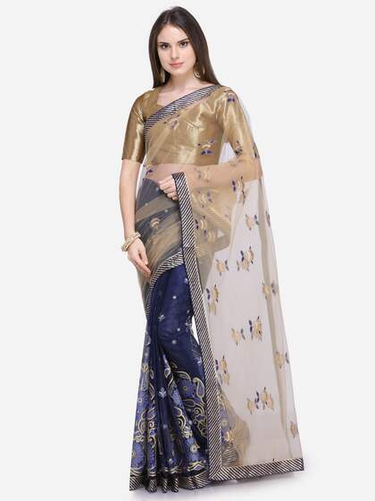 982ef73150d Net Sarees - Buy Stylish Net Saree in India Online - Myntra