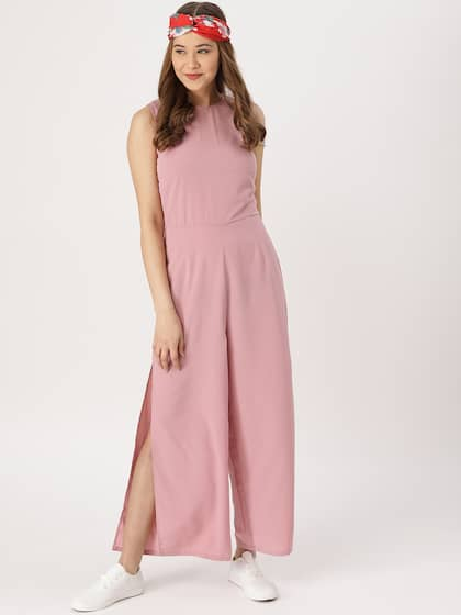 ee78167f17 DressBerry Pink Solid Basic Jumpsuit