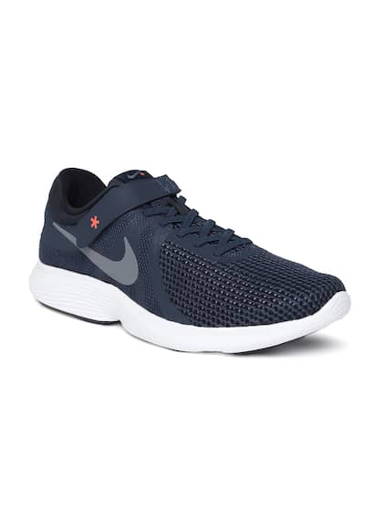 dd4001b53f9b8 Nike Men Navy Blue Solid REVOLUTION 4 FLYEASE Running Shoes