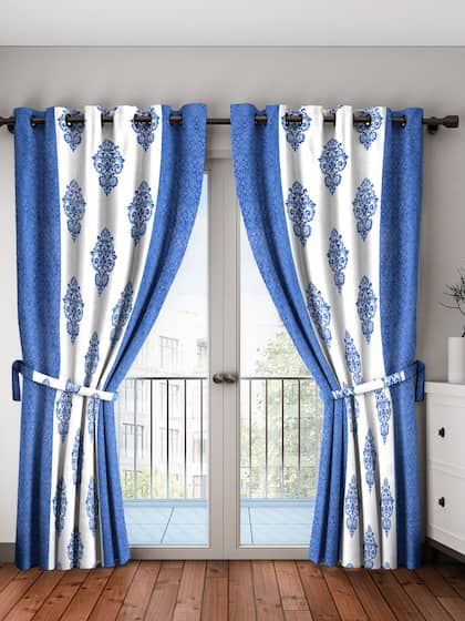 Home Sizzler. Set Of 2 Long Door Curtains