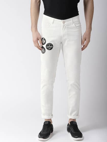 Hubberholme Men White Slim Fit Mid-Rise Clean Look Jeans
