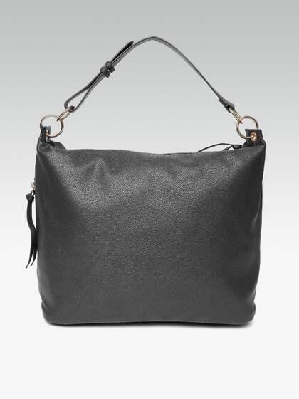 Dorothy Perkins Black Solid Hobo Bag