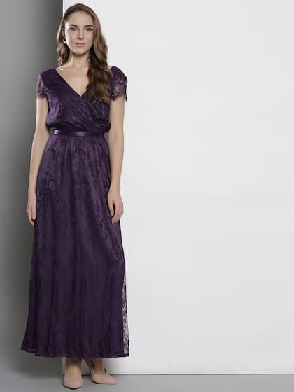 Neck. + 11 more. DOROTHY PERKINS Women Purple Lace Maxi Dress 0dac29c79