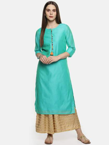 3a6676fea73 RANGMANCH BY PANTALOONS. Solid Straight Kurta