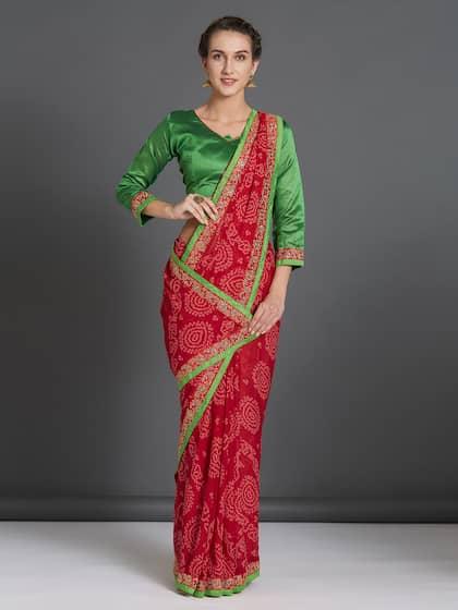 ba72fcb81b Bandhani Sarees - Buy Handcrafted Traditional Bandhani Saree