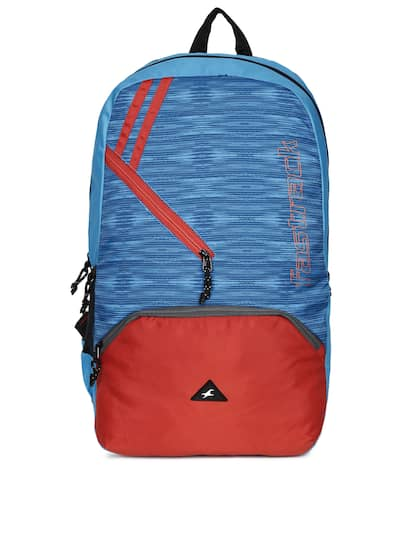 Fastrack Uni Blue Red Colourblocked Backpack