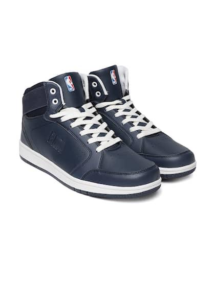 f7a0bcf3ec25 NBA Men Navy Blue Solid Sneakers
