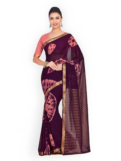 12c5460dfcc41 Chiffon Saree - Buy Elegant Chiffon Sarees online - Myntra