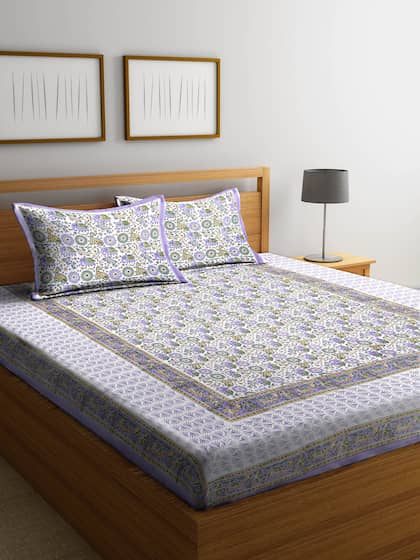 81a38b86628 Rajasthan Decor. 180 TC 1 King Bedsheet with 2 Pillow Covers